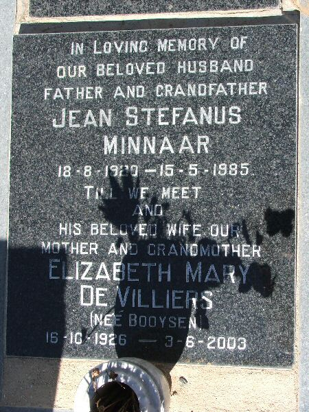 Jean and Elizabeth Minaar