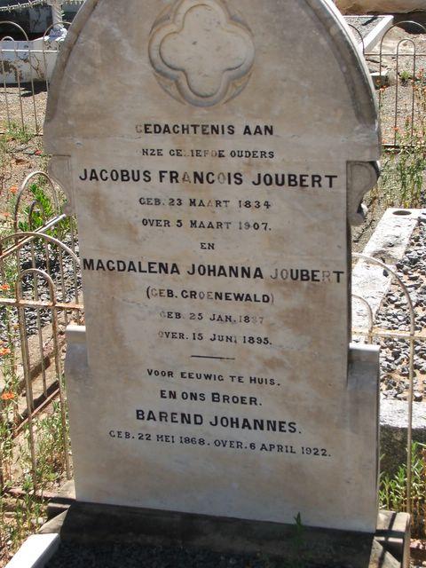 Jacobus and Magdalena Joubert